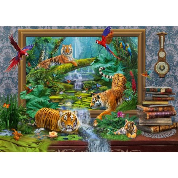 Puzzle Schmidt - 1000 de piese - KRASNY : TIGERS - COMING TO LIFE
