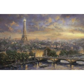 Puzzle Schmidt - 1000 de piese - Thomas Kinkade : Paris city of love
