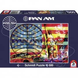Puzzle Schmidt - 500 de piese - Pan Am : Fly to New York