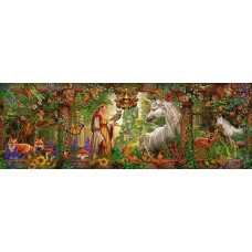 Puzzle panoramic Schmidt - Ciro Marchetti: Magic Forest 1.000 piese (59614)