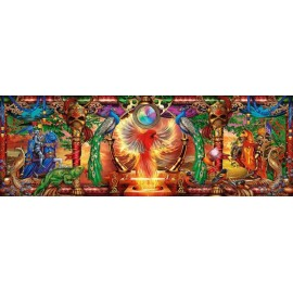 Puzzle panoramic Schmidt - Ciro Marchetti: Kingdom Of The Firebird 1.000 piese (59615)