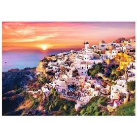 Puzzle Trefl - 1000 de piese - Sunset over Santorini