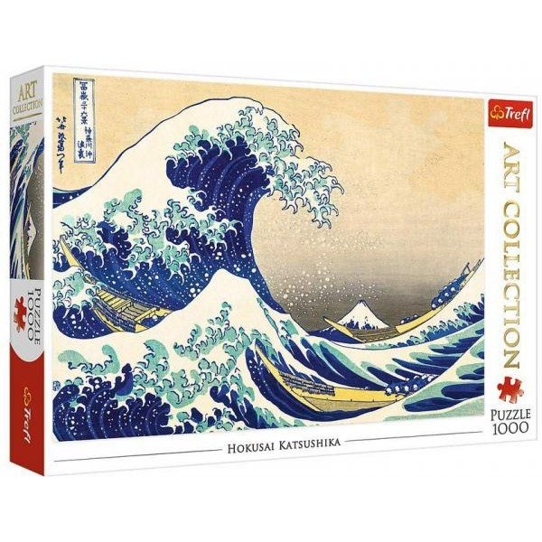 Puzzle Trefl - Katsushika Hokusai: The Great Wave of Kanagawa 1.000 piese (10521)