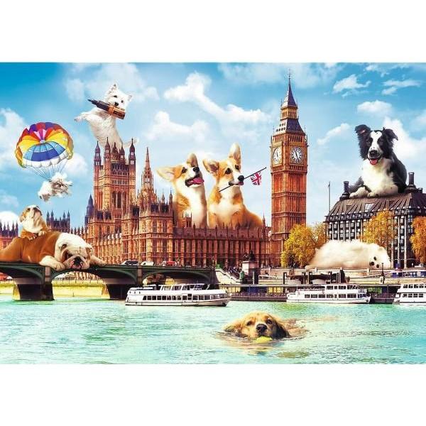 Puzzle Trefl 1000 Catelusi la Londra