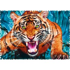 Puzzle Trefl - Crazy Shapes - Facing a tiger 600 piese dificile (11110)