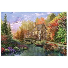Puzzle Trefl - 1500 de piese - Cottage by the lake