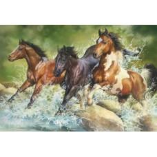 Puzzle Trefl - Three Wild Horses 1500 piese (26148)