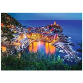 Puzzle Trefl - 2000 de piese - Vernazza at dusk Italia