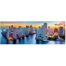 Puzzle Trefl - 1000 de piese - Miami after dark - Panorama