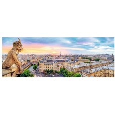 Puzzle Trefl - 1000 de piese - View from the Cathedral of Notre-Dame de Paris - Panorama