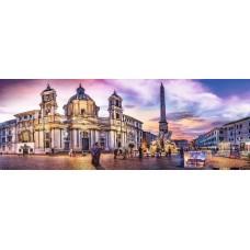 Puzzle panoramic Trefl - Piazza Navona Rome 500 piese (29501)