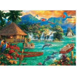 Puzzle Trefl - Chuck Pinson: Island Life 3.000 piese (33072)