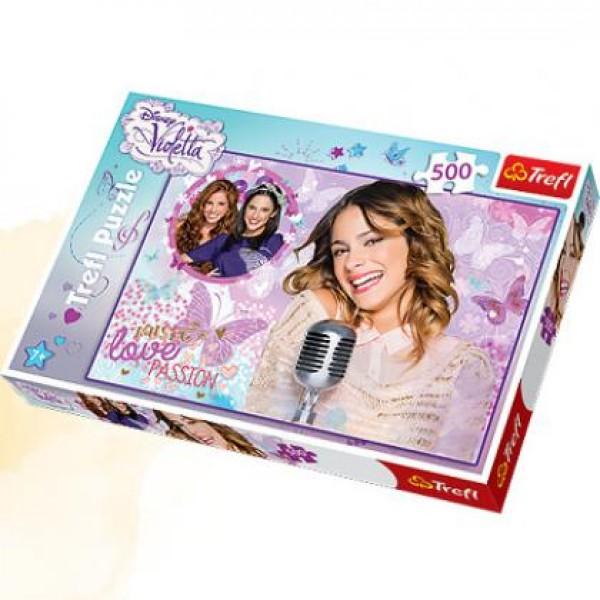 Puzzle Trefl - 500 de piese - Violetta - Lets sing!