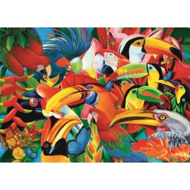 Puzzle Trefl - Colorful Birds 500 piese (37328)