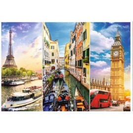 Puzzle Trefl 4000 Calatorie in Europa